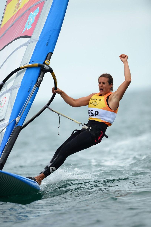 Hiszpanka Marina Alabau zdobyła złoty medal na igrzyskach w Londynie /AFP