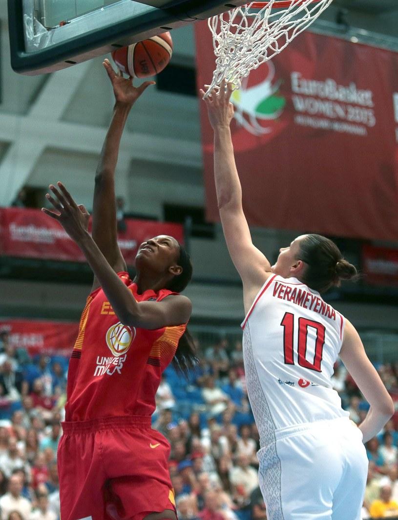 Hiszpanki wygrały z Białorusinkami w meczu o trzecie miejsce ME /AFP