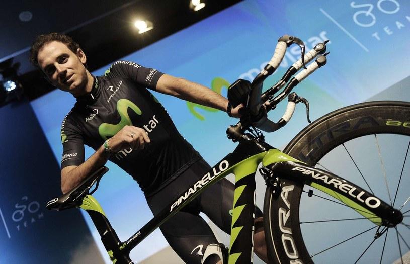 Hiszpański kolarz Alejandro Valverde /AFP