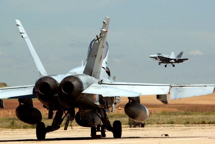 Hiszpańskie samoloty będą broniły nad Bałtykiem granicy Paktu Północnoatlantyckiego z Federacją Rosyjską /PIERRE-PHILIPPE MARCOU /AFP