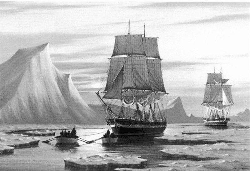 "HMS ""Erebus"" i HMS ""Terror"" /Wikimedia Commons /INTERIA.PL/materiały prasowe"