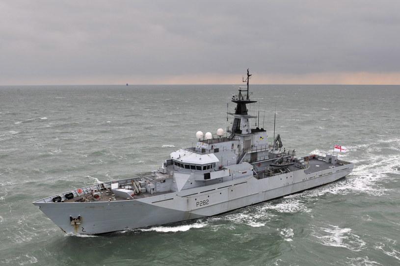 """HMS """"Mersey"""" - okręt, na którym przeprowadzano testy nowej broni /Wikimedia Commons /INTERIA.PL/materiały prasowe"""