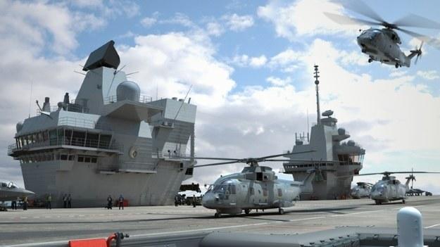 HMS Queen Elizabeth - wizualizacja /materiały prasowe