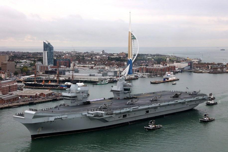 HMS Queen Elizabeth /DAN ROSENBAUM/ROYAL NAVY/MOD/HANDOUT /PAP/EPA