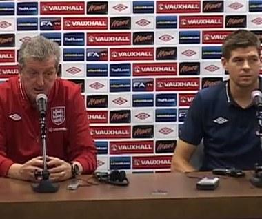 Hodgson i Gerrard przed meczem z Polską