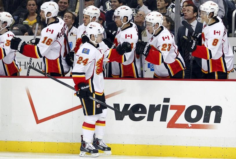 Hokeiści Calgary Flames walczyli do końca /AFP