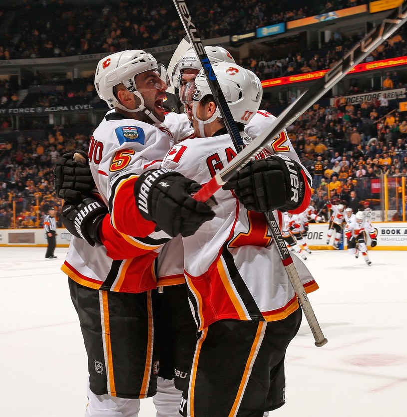 Hokeiści Calgary Flames /AFP
