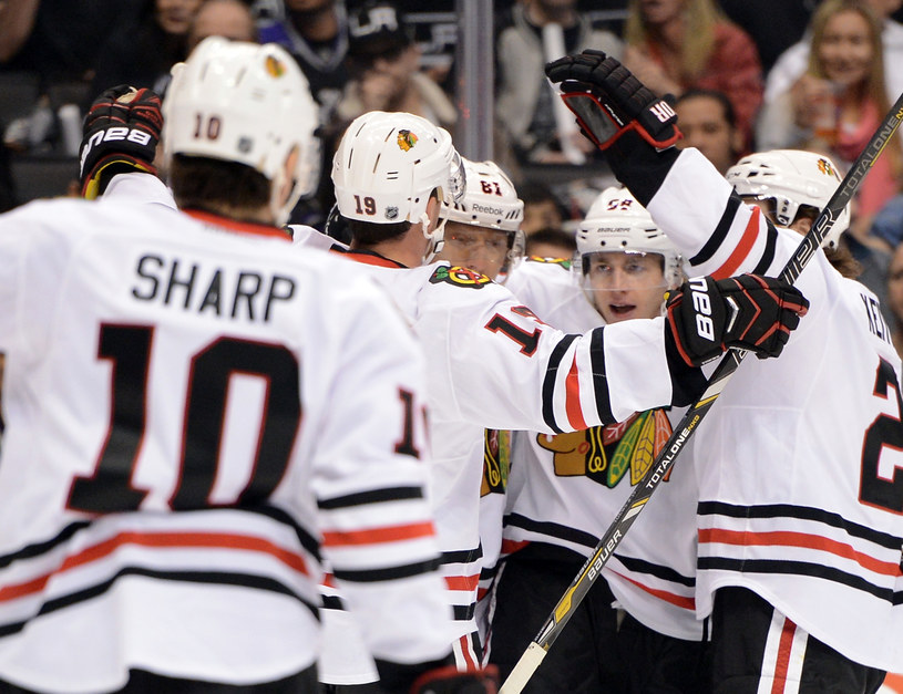 Hokeiści Chicago Blackhawks /Harry How /Getty Images