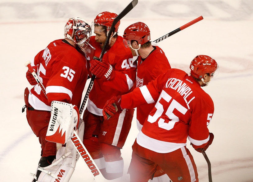 Hokeiści Detroit Red Wings /AFP