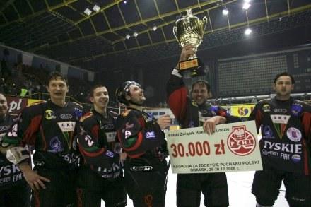 Hokeiści GKS-u Tychy wywalczyli Puchar Polski/fot. Sławomir Ptasznik /Agencja Przegląd Sportowy
