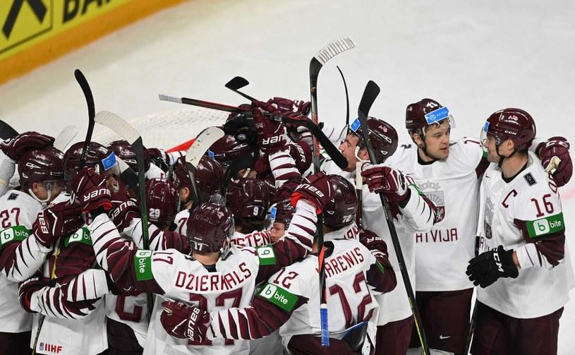 Hokeiści Łotwy /AFP