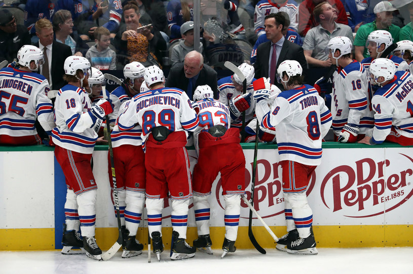 Hokeiści New York Rangers /RONALD MARTINEZ / GETTY IMAGES NORTH AMERICA / GETTY IMAGES VIA AFP /AFP