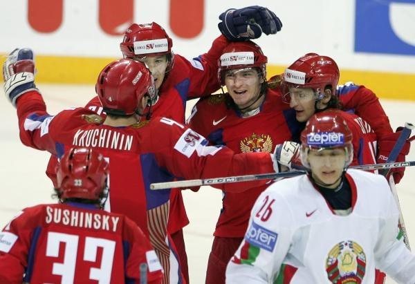 Hokeiści Rosji wymęczyli zwycięstwo nad Białorusią /AFP
