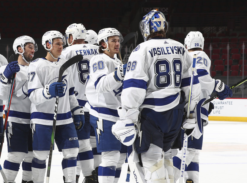 Hokeiści Tampa Bay Lightning /Chase Agnello-Dean/NHLI via Getty Images /Getty Images