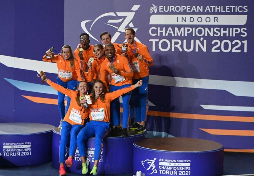 Holenderscy lekkoatleci wygrali klasyfikację medalową podczas HME w Toruniu. /SERGEI GAPON /AFP