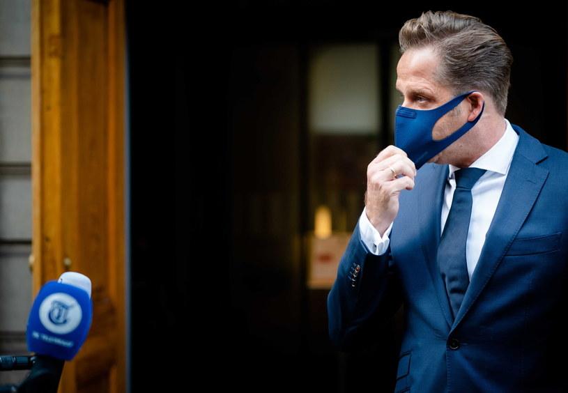 Holenderski minister zdrowia Hugo de Jonge /BART MAAT /PAP/EPA