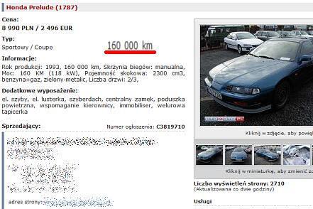 Honda, przebieg 160 tys. km / Kliknij /INTERIA.PL