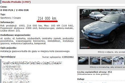 Honda, przebieg 214 tys. km / Kliknij /