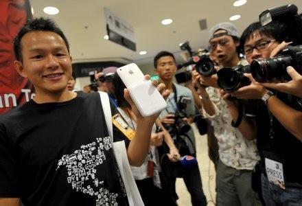 Hong-Kong. Jedna z pierwszych osób, która kupiła nowego iPhone'a. /AFP