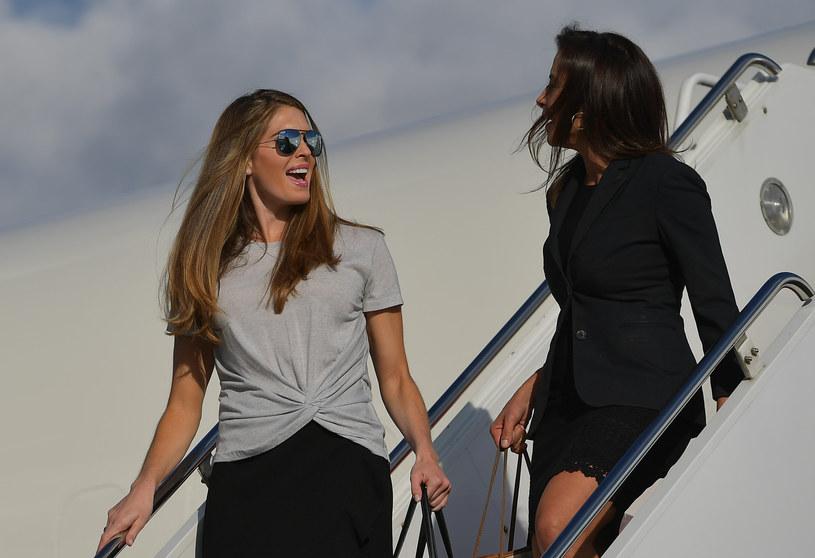 Hope Hicks (z lewej) /AFP