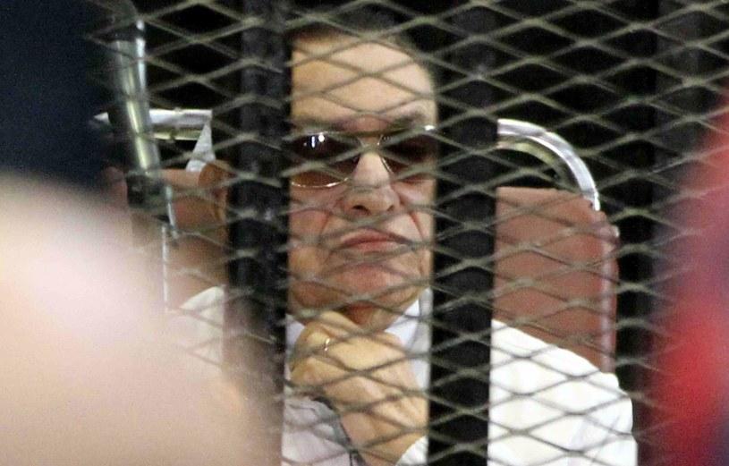 Hosni Mubarak na rozprawie /AFP
