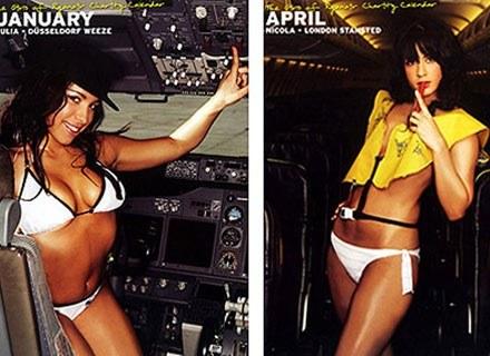 Hostessy jednej z tanich linii w promocyjnym kalendarzu, 2008 rok /AFP