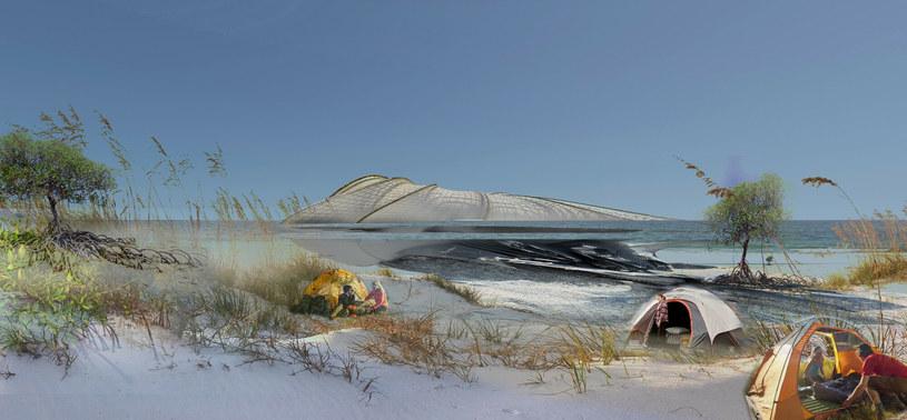 Hotel będzie zlokalizowany na sztucznej, plastikowej wyspie /Ferrari Press /East News