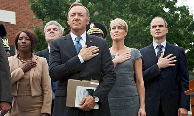"""""""House of Cards"""": Wciągająca polityczna zemsta kongresmena Francisa Underwooda (Kevin Spacey) i jego żony (Robin Wright) na tych, którzy nie spełnili danych im obietnic przedwyborczych. /materiały prasowe"""