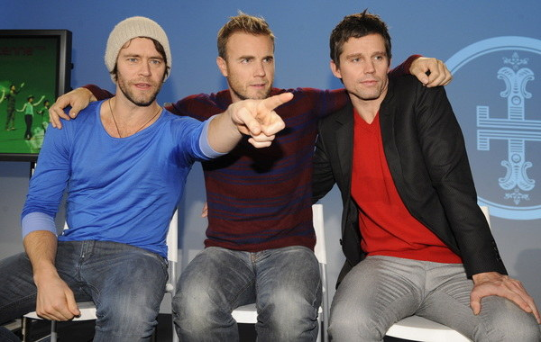 Howard Donald, Gary Barlow, Jason Orange   /AFP