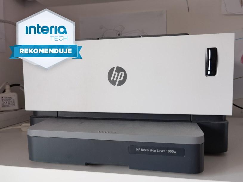 HP Neverstop Laser 1000w otrzymuje REKOMENDACJĘ serwisu Interia Tech /INTERIA.PL