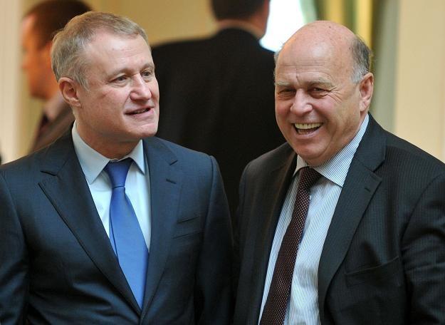 Hrihorij Surkis (z lewej) i Grzegorz Lato /AFP