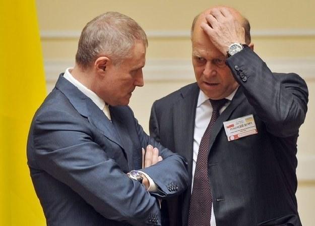 Hryhorij Surkis  (z lewej) i prezes PZPN Grzegorz Lato. /AFP