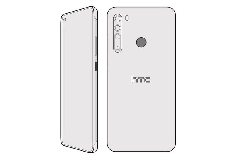 HTC Desire 20 Pro - szkic / fot. PhoneArena /materiał zewnętrzny