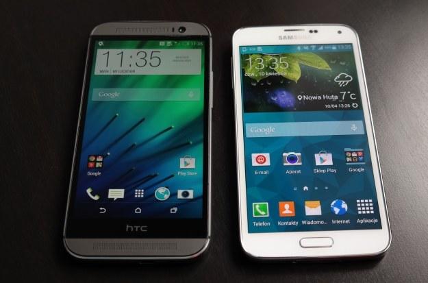 HTC One M8 i Samsung Galaxy S5 /INTERIA.PL