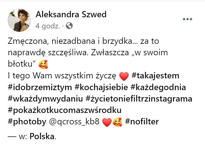https://www.facebook.com/aleksandraszwed.official /Facebook
