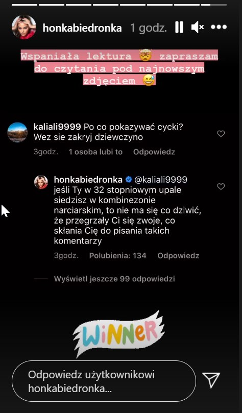 https://www.instagram.com/honkabiedronka/ /Instagram