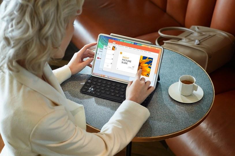 Huawei MatePad Pro 5G i klawiatura /materiały prasowe