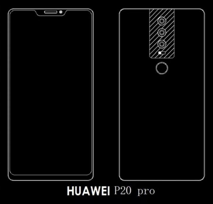 Huawei P20 w najbogatszej wersji będzie miał charakterystyczne wycięcie w ekranie /Pocket-Lint /Internet