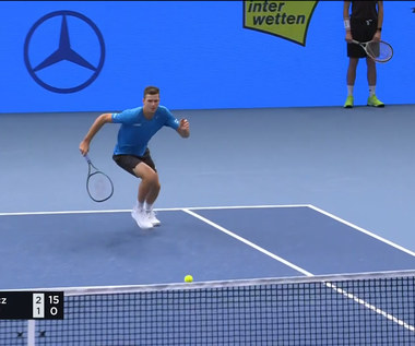 Hubert Hurkacz - Andy Murray 1:2 w 1/16 ATP w Wiedniu. WIDEO (Polsat Sport)