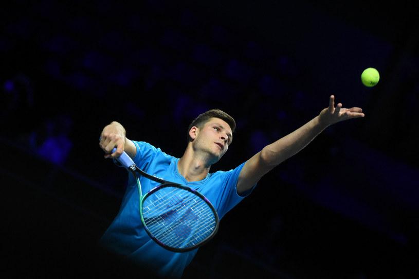 Hubert Hurkacz podczas turnieju w Metz /Dubreuil Corinne/ABACA/Abaca/East News /East News