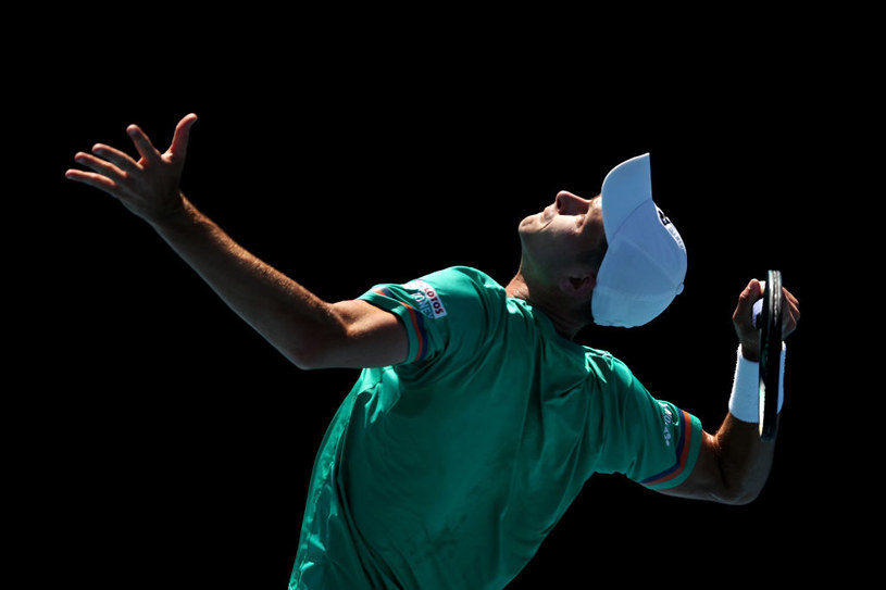Hubert Hurkacz w turnieju /Jack Thomas /Getty Images