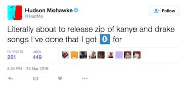 Hudson Mohawke na Twitterze /