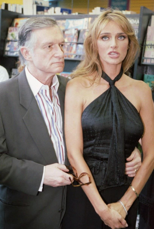 Hugh Hefner z drugą żoną Kimberley Conrad Hefner /East News