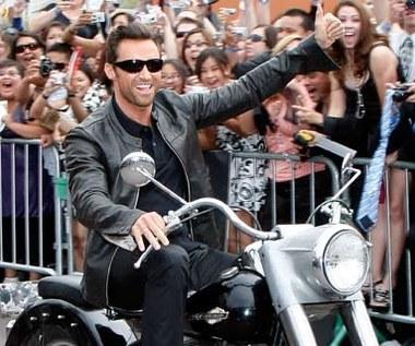 Hugh Jackman na motocyklu