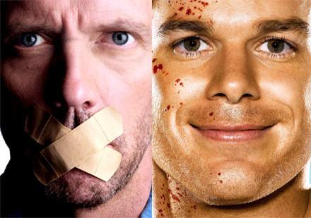 "Hugh Laurie (""Dr house"") kontra Michael C. Hall (""Dexter"") /materiały prasowe"