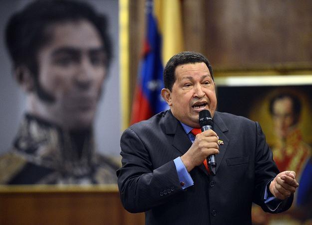 Hugo Chavez w Caracas, 9 października 2012 /AFP