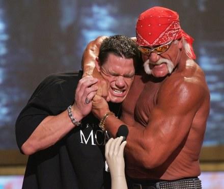Hulk Hogan chce zmiażdżyć Andrzeja Gołotę. /Getty Images/Flash Press Media