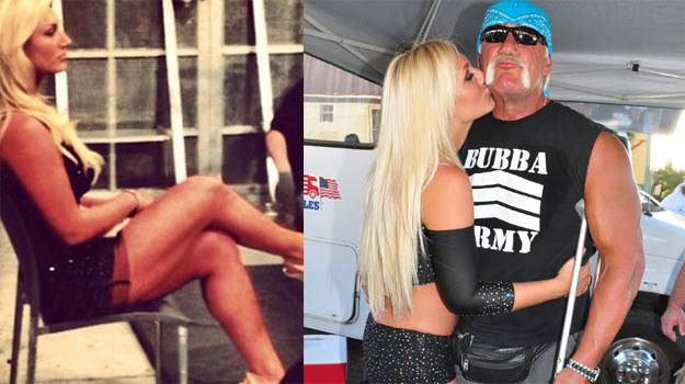 Hulk Hogan z córką (P) oraz zdjęcie, które wywołało burzę na Twitterze (L). /Splashnews