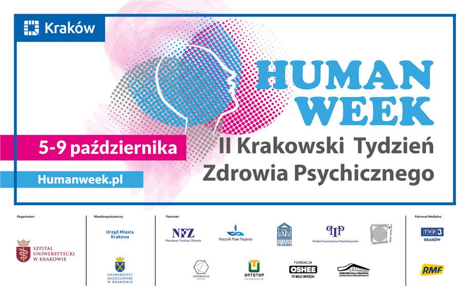 """""""HUMAN WEEK""""- II Krakowski Tydzień Zdrowia Psychicznego potrwa od 5 do 9 października /Materiały prasowe"""