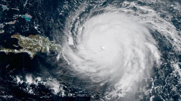 Huragan Irma zbliżający się do Portoryko /NOAA HANDOUT /PAP/EPA
